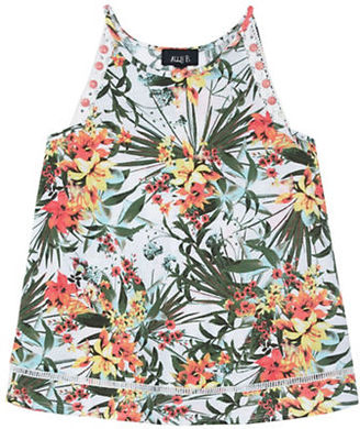 Ally B Girls 7-16 Floral Sleeveless Top $38 thestylecure.com
