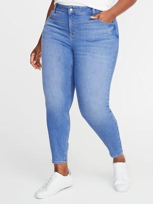 Old Navy High-Waisted Secret-Slim Pockets Plus-Size Rockstar Cropped Super Skinny Jeans