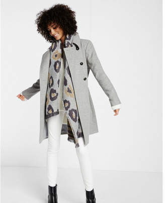 Express gray wool blend trench coat $268 thestylecure.com