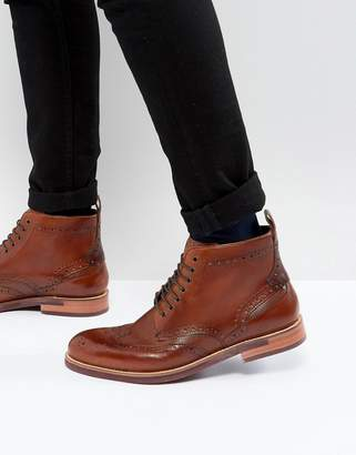 Ted Baker Hjenno Leather Lace Up Boots