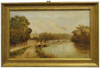 One Kings Lane Vintage Bridge Over Thames by J. H. Lewis Art