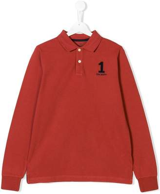 Hackett (ハケット) - Hackett Kids TEEN number patch polo shirt