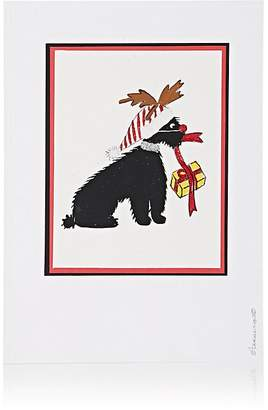Constance Kay Dog With Gift & Red Nose Card