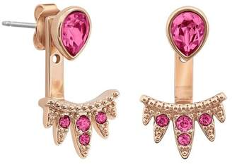Adore Rose Gold Plated Teardrop Swarovski Crystal Accent & Pave Jacket Earrings