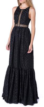 Zac Posen Brocade Black Gown