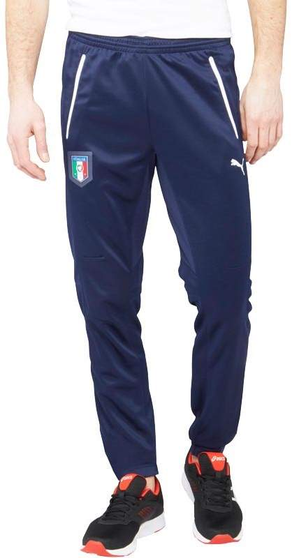Herren FIGC Italy DryCELL Poly Trainingshose Navy