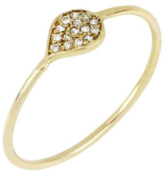 Bony Levy 18K Yellow Gold Diamond Leaf Stack Ring - 0.06 ctw