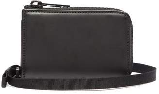 Maison Margiela Zip Around Leather Belt Wallet - Mens - Black