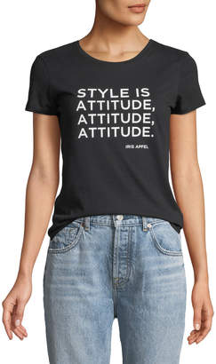 Iris Barrel Apfel Style is Attitude Short-Sleeve Crewneck Tee