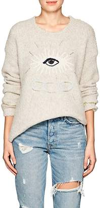 Raquel Allegra Women's Eye-Motif Alpaca-Blend Sweater