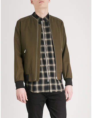 The Kooples Shoulder patch stretch-cotton bomber jacket