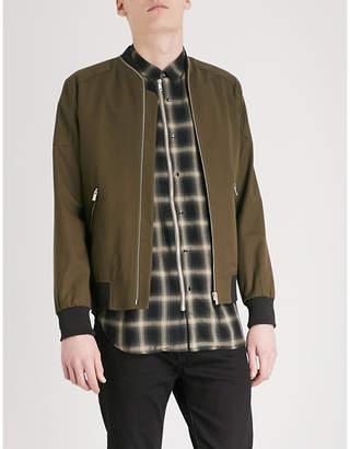 The Kooples Shoulder patch stretch-cotton bomber jacket