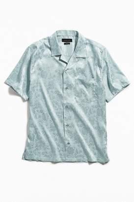 Urban Outfitters Brocade Short Sleeve Button-Down Shirt