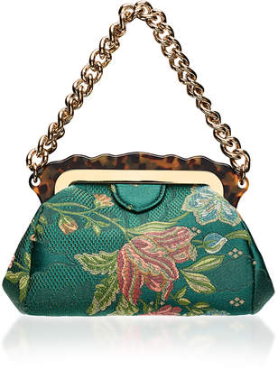 Edie Parker Aliza Silk Brocade Bag