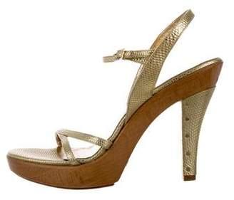 Dolce & Gabbana Metallic Platform Sandals