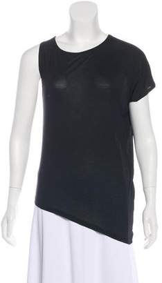 Halston One-Shoulder Scoop Neck T-Shirt
