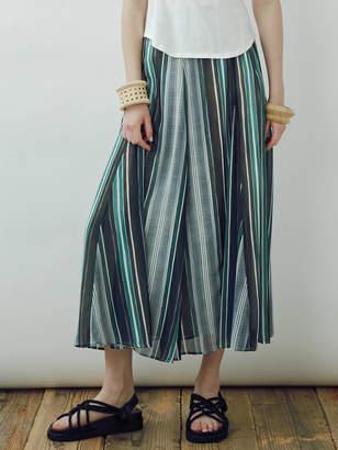 LAGUNAMOON (ラグナムーン) - シアーラグストライプフレアーマキシスカート