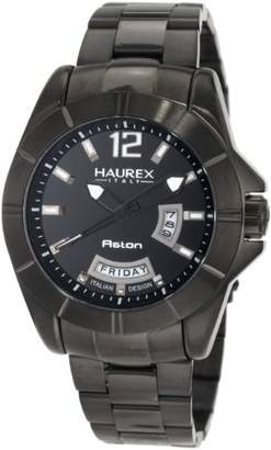 Haurex Italy Men's 7N366UNN Aston PVD Day and Date Steel Bracelet Sport Watch