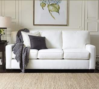 Pottery Barn Buchanan Square Arm Upholstered Sleeper Sofa with Memory Foam Mattress