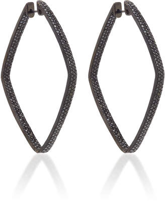 Black Diamond Ofira Diamond Shape Hoop Earrings