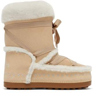 Bogner New Tignes Suede And Shearling Boots - Womens - Light Tan