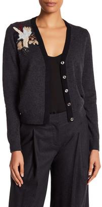 Diane von Furstenberg Temira Embellished Wool & Cashmere Blend Cardigan $298 thestylecure.com