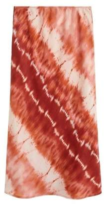 MANGO Tie-dye midi skirt
