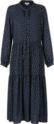 Oliver Bonas Luster Foil Spot Midi Dress