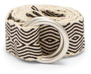 Guanabana - Diamond Patterned Woven Belt - Mens - Black Multi