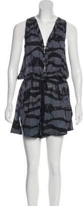 A.L.C. Printed Sleeveless Mini Dress