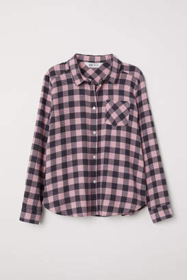 H&M Plus Size Flannel Shirt - Pink
