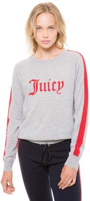 Juicy Couture Cashmere Colorblock Juicy Pullover Sweater