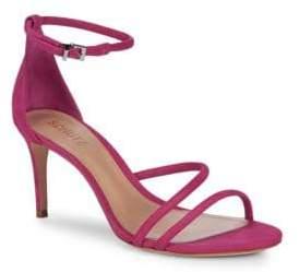 Schutz Jenina Leather Ankle-Strap Sandals