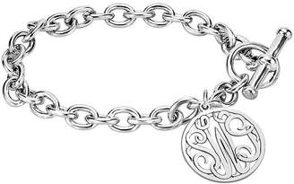 JCPenney FINE JEWELRY Personalized Sterling Silver 20mm Monogram Charm Bracelet
