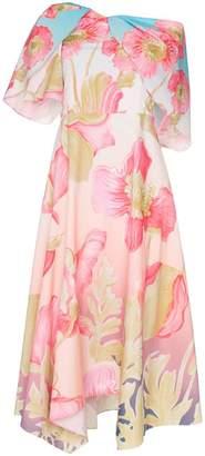 Peter Pilotto floral print off-shoulder dress