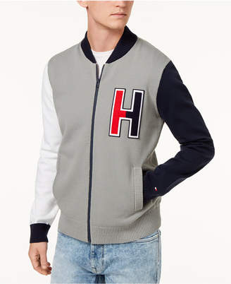 Tommy Hilfiger Men's Terrenz Colorblocked Logo Applique Baseball Sweater, Created for Macy's