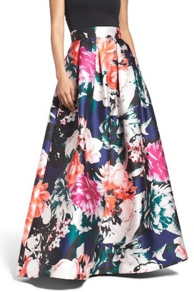 Women's Eliza J Floral Ball Skirt $188 thestylecure.com