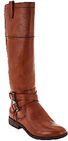 Marc Fisher Medium Calf Leather Riding Boots -Audrey