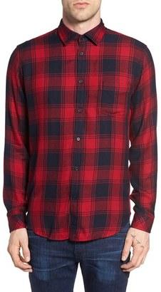 Men's Rails Lennox Slim Fit Plaid Woven Shirt $148 thestylecure.com