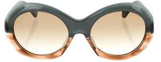 Oliver Goldsmith Round Audrey Tinted Sunglasses Green Round Audrey Tinted Sunglasses