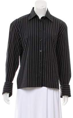 Totême Pinstripe Button-Up Blouse w/ Tags