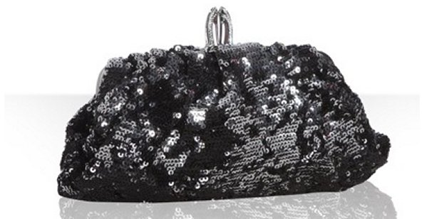 Christian Louboutin black sequin 'Tina' clutch