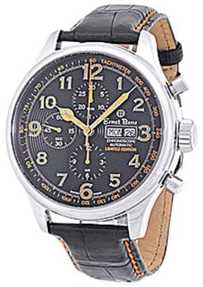 """Ernst Benz Mario Batali Chronoscope"""" Stainless Steel Mens Strap Watch 47mm"""