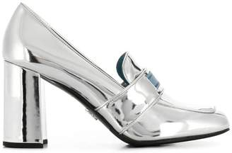 Prada laminated high pumps