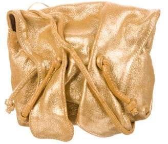 Carlos Falchi Metallic Suede Crossbody Bag