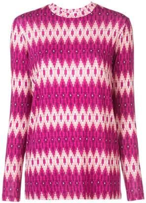 Prabal Gurung geometric fitted sweater