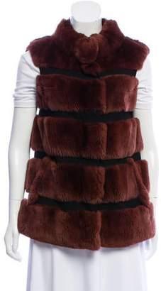 Diane von Furstenberg Funnelia Fur Vest