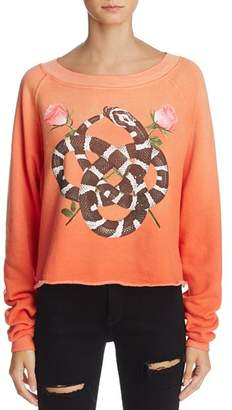 Wildfox Couture Monte Snake Charmer Graphic Sweatshirt