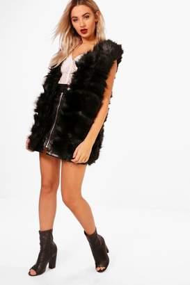 boohoo Faux Fur Gilet
