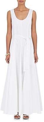 The Row Women's Daria Stretch-Cotton Belted Maxi Dress